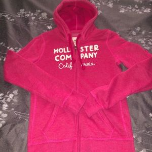 Hollister Co zip up hooded sweatshirt sz large